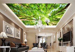 3D Sunny Woods 7080  Ceiling WallPaper Murals Wall Print Decal Deco AJ WALLPAPER