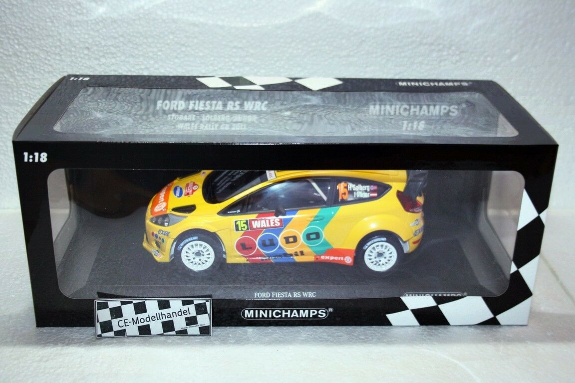 Ford Fiesta RS WRC   15 Rallye Wales Solberg • 2011 • NEU • Minichamps 1 18