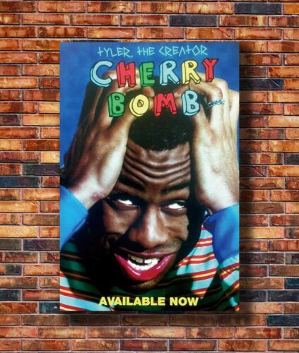 Hot Fabric Poster Tyler the Creator Cherry Bomb Hip Hop Album 36x24 40x27 Z1449