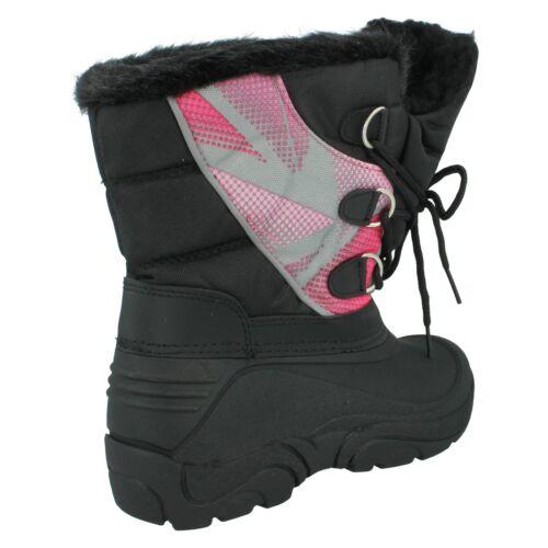 GIRLS REFLEX H4066 INFANT LACE UP CASUAL WINTER SNOW BOOTS KIDS FAUX FUR SIZE