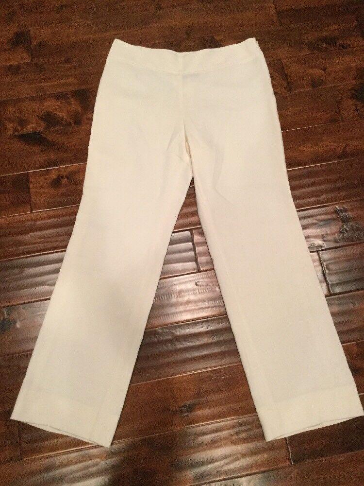 AKRIS Cream Wide-Leg Dress Pants, Size 14 NWT