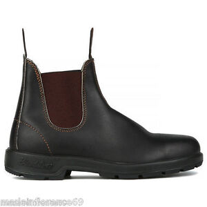 Image is loading Blundstone-500-Boots-Brown-Leather-Elastic-Boots-Boots- 7716dfa842b