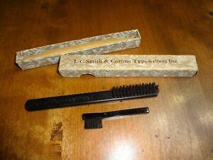 Vtg LC Smith & Corona Typewriter Inc. BRUSHES with Original Box
