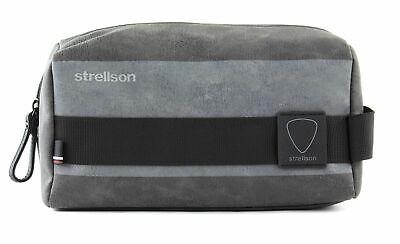 Strellson Finchley Washbag Shz Cultura Borsa A Sacco Dark Grey Grigio Nuovo-mostra Il Titolo Originale