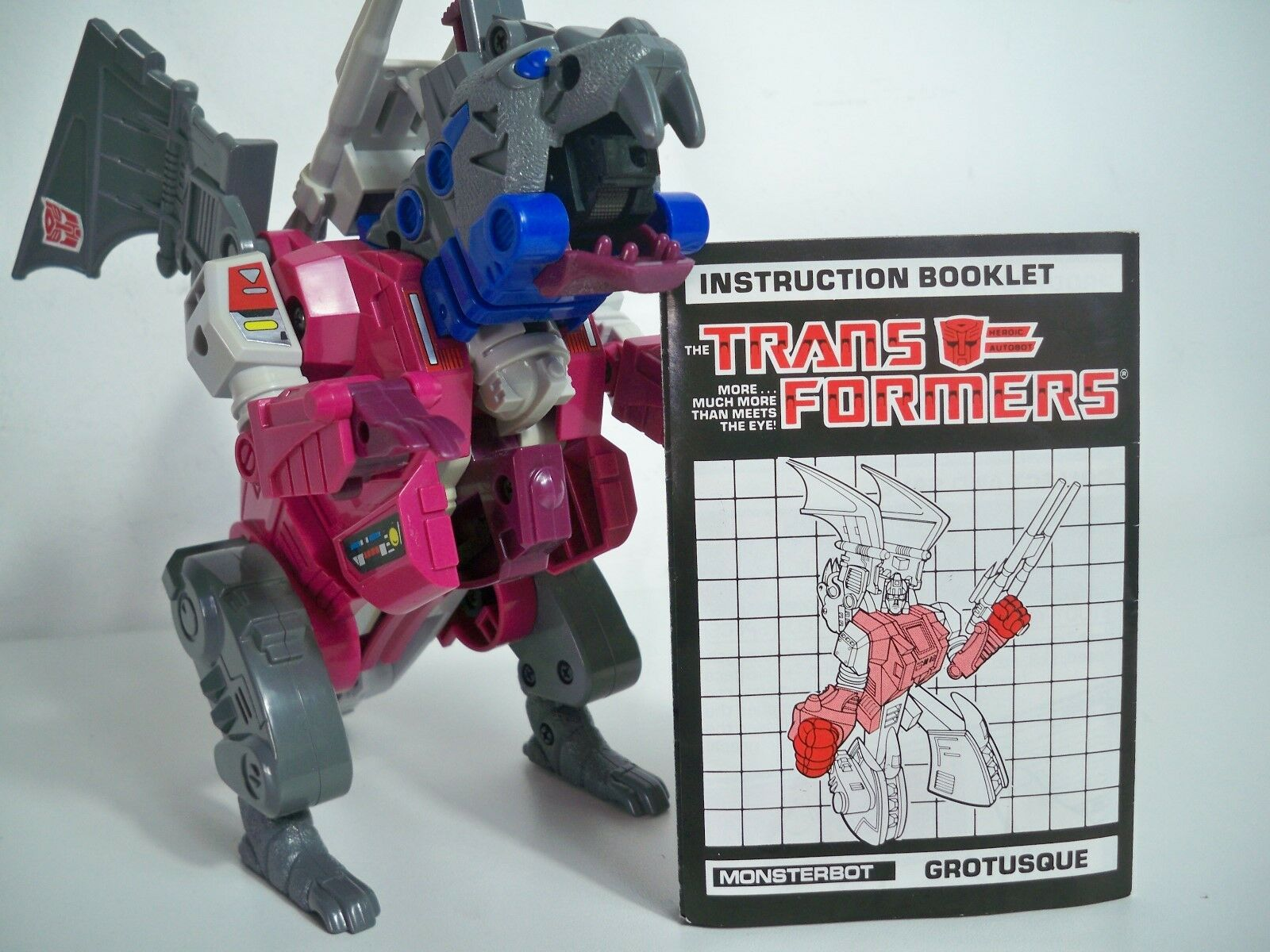 K185118 grougeusque avec instructions G1 Transformers 100% complet  vintage original  vente en ligne