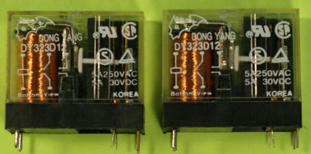 552198 Aromat JH2A-W-AC12V-Q DPST-NO 12VAC 20A Power Relay W//Mounting Flange