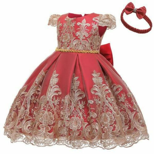 Gowns wedding Girls baby children Kids Dresses Tulle Prom Outfit Pageant