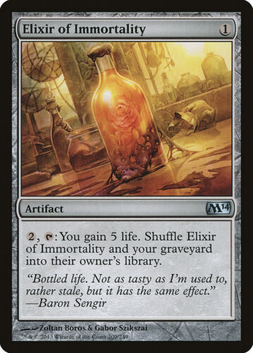 U FREE US SHIPPING! MTG X4: Elixir of Immortality Magic 2014 Light Play