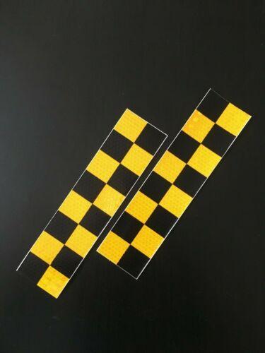 High Intensity Reflective Self Adhesive Safety Vinyl Tape Choose Style UK Seller