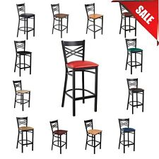 Pick Your Color Seating Cross Back Bar Height Chair Restaurant Bar Pub Seat