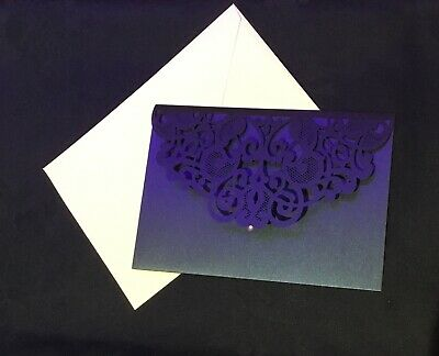Lace Effect Cut Gift Money Vouchers Wallet Card for Wedding Birthday Invitation