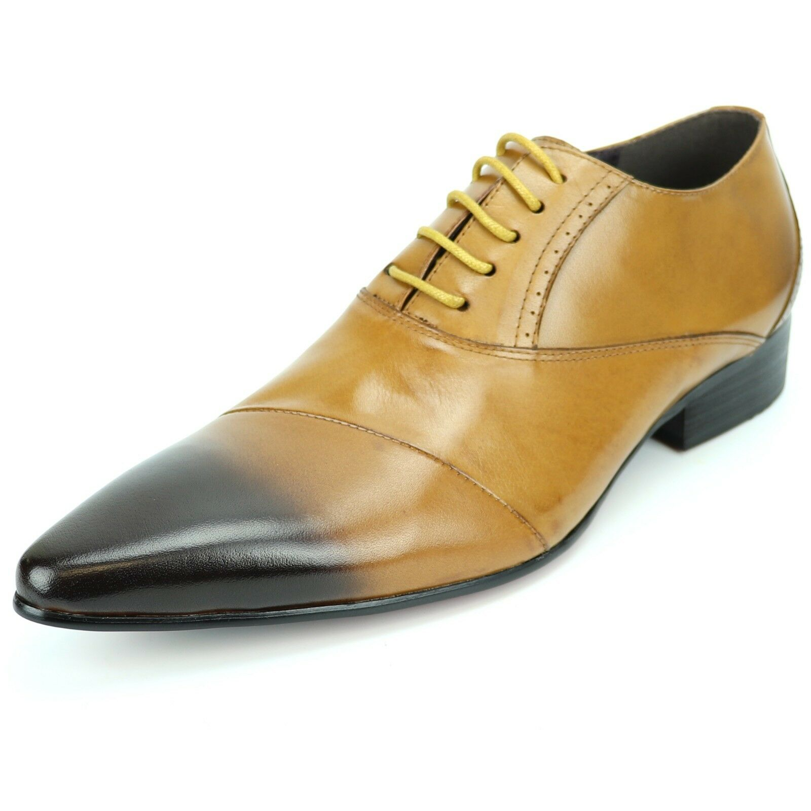 FI-7281 Genuine Tan Leather Lace up Fiesso by Aurelio Garcia