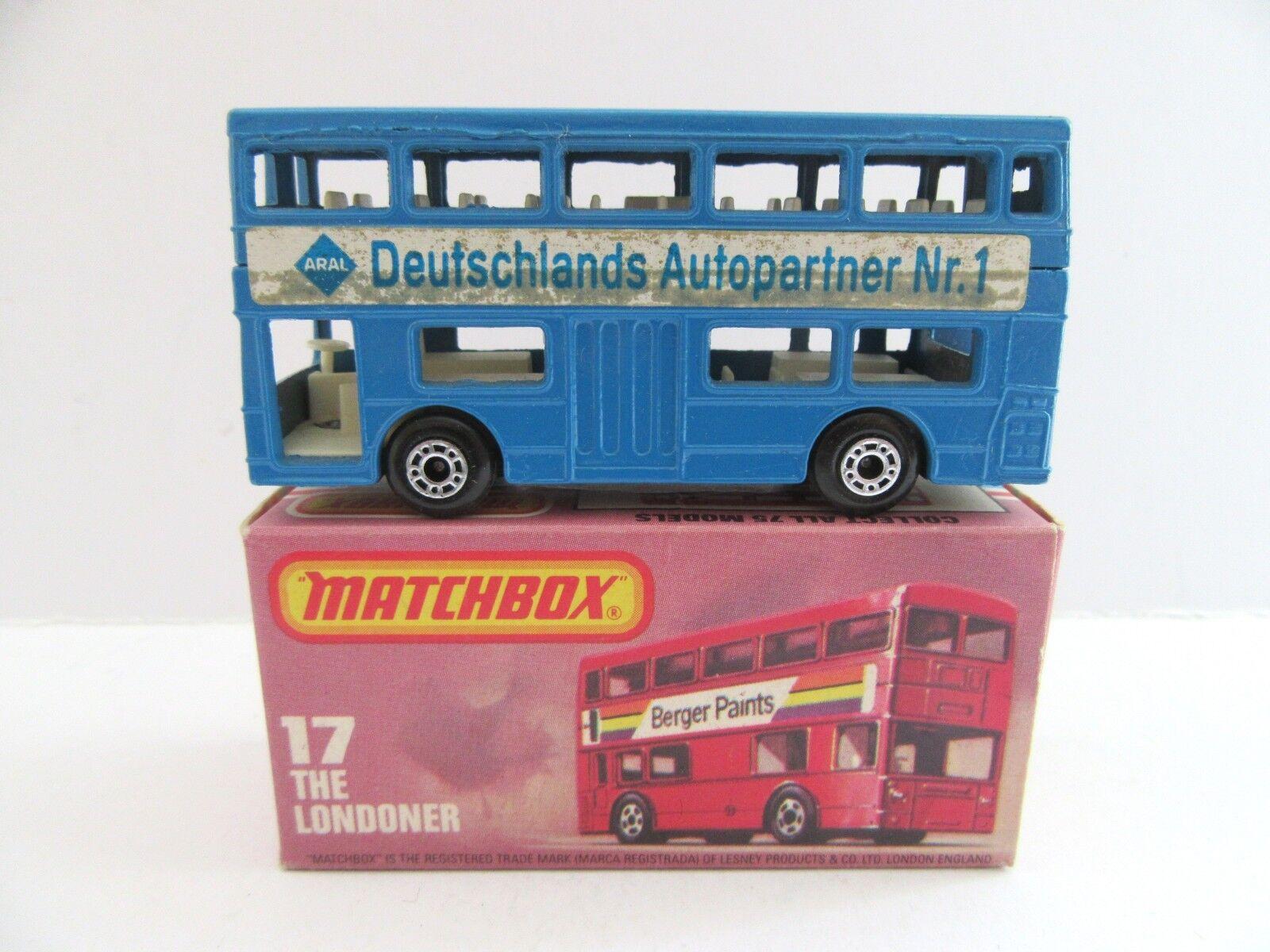 Matchbox Superfast 17b Londoner Bus - Deutschlands Autopartner Nr.1 - Mint Boxed