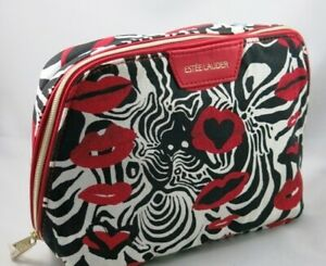 New-ESTEE-LAUDER-Cosmetic-Makeup-Bag-from-USA-Red-Lips