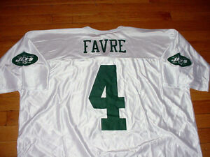info for c68d9 475e9 Details about Vintage NFL New York Jets Brett Favre #4 Football Jersey HOF  White Mens 2XL/XXL