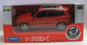Mercedes-Benz-GLK-rot-Welly-DieCast-Modellauto-1-36-39-neu-und-box