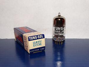 1 x Vintage 12at7/ECC81 Tung-Sol(USA) Tube*Very Strong & Balanced*NOS*NIB*