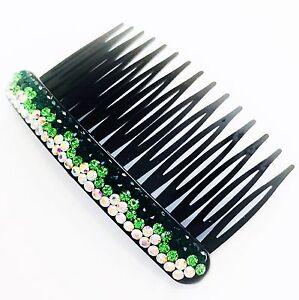 USA SELLER Hair Comb Rhinestone Crystal Party Fashion Cute Accessory GRAY AB