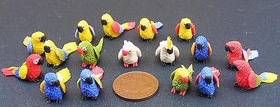 Escala 1:12 azul y amarillo de Cerámica Pájaro tumdee Casa De Muñecas Jardín Accesorios De Mascotas I