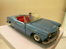 DINKY TOYS F 528 PEUGEOT 404 CABRIOLET BLUE-METALLIC COPYBOXED SCALE 1:43
