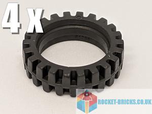 BLACK x 7MM OFFSET TREAD 4541455⭐️ ⭐️4 x NEW LEGO 61254 TYRE 23MM D