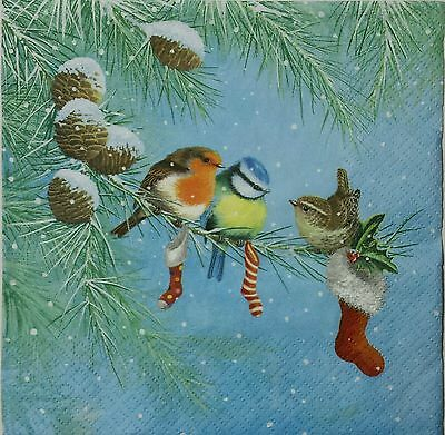 Crafts Birds On A Branch 2 Single Lunch Size Paper Napkins For Decoupage 3-ply Diversified In Packaging Other Home Arts & Crafts