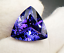 High-quality-AAAAA-LOOSE-GEMSTONE-UNHEATED-BLUE-COLOR-TANZANITE-10mm-TRIANGLE thumbnail 5