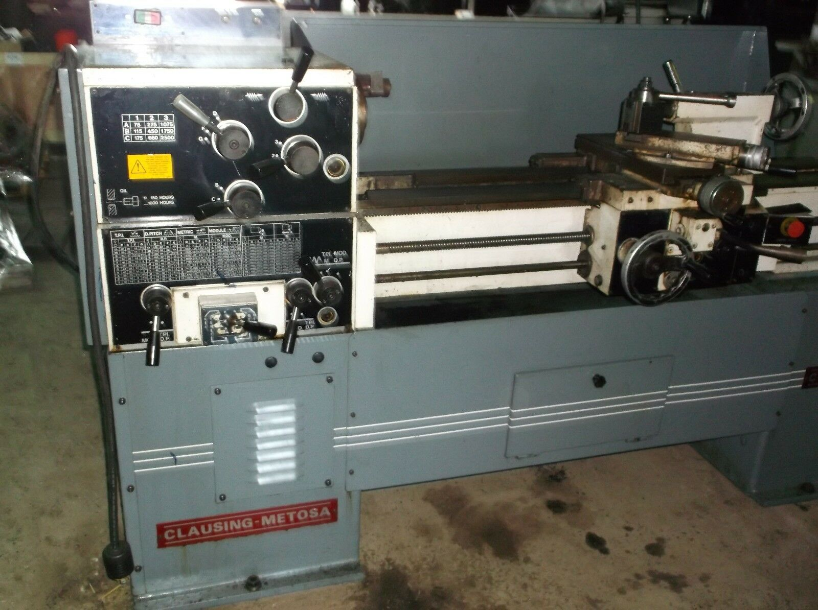 Clausing Metosa Engine Lathe 1340 Nice Little Lathe $5,900