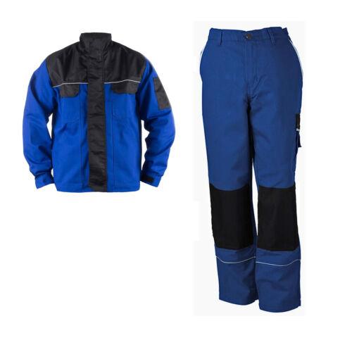 Set Bundhose Bundjacke blau KFZ Elektriker Arbeitshose Berufsbekleidung