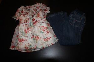 Girls 2 Piece Outfits Size 5 Shorts Shirts Jeans Guess Carters Gymboree