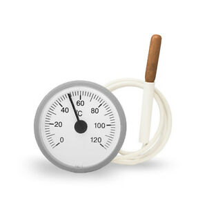 Tpm-03s-Analog-Thermometer-Remote-Thermometer-Round-With-Capillary-Tube-0-120-C-White