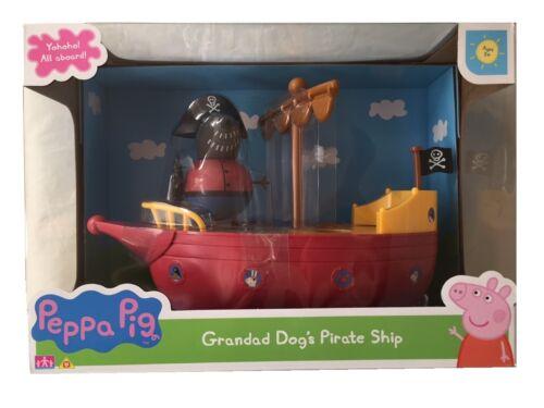 Peppa Pig Grandad Dog/'s Pirate Bateau Navire Jouet Jeu /& Figurine