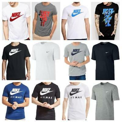 Nike Mens Gym Sports Cotton Tee T-Shirt Top Swoosh Classic Size S M L XL NEW