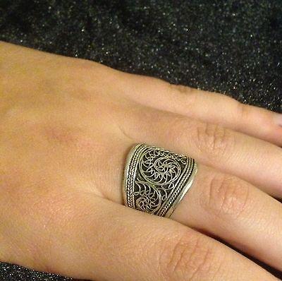 Ring Nepal Silver Hippie Boho Adjustable Gypsy BohemianTribal Folk R1024