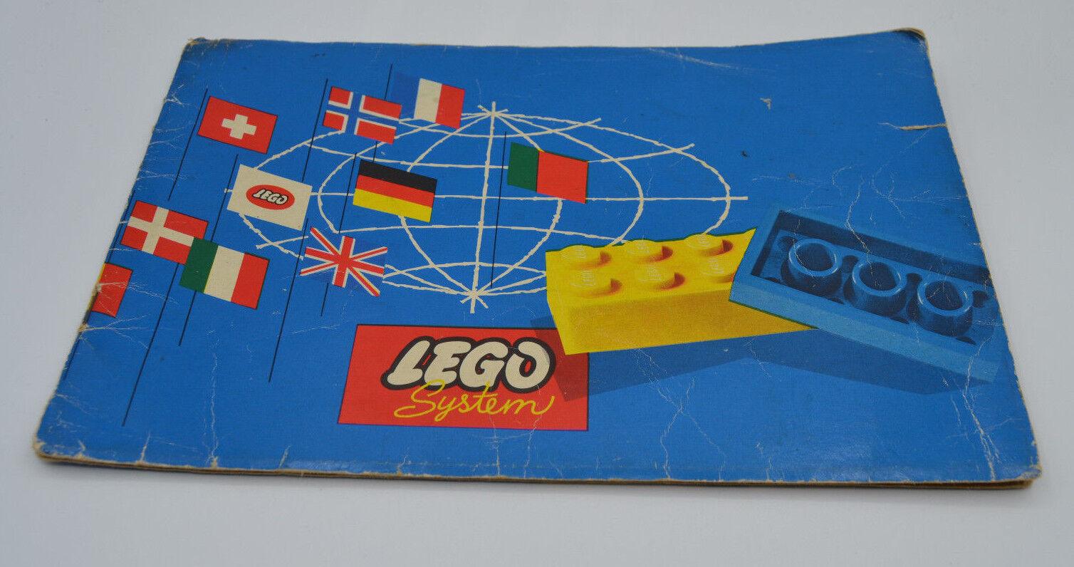LEGO Bauideen 1 mit Katalog Erstausgabe 1960   vintage catalog