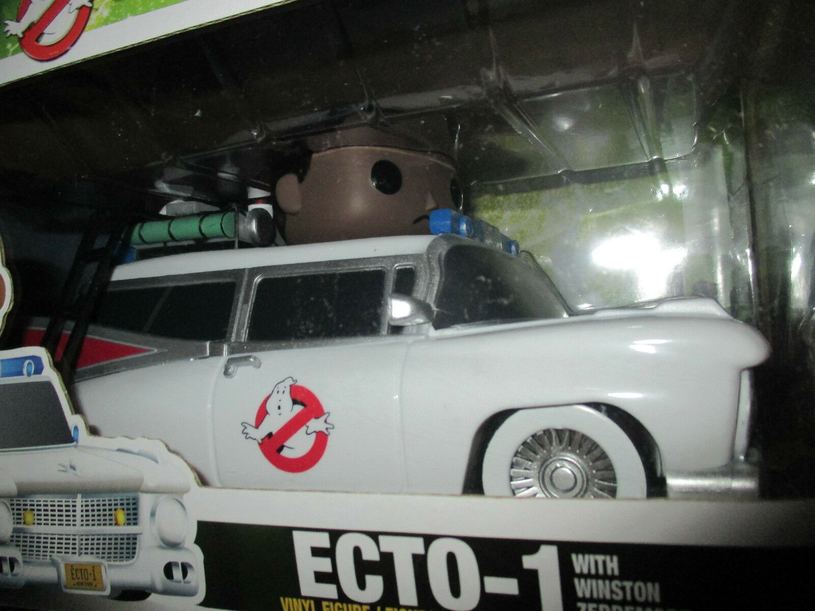 Ghostbusters ECT0-1 car  Funko model car car car and Winston Zeddermore vinyl Figure 3b2bd3