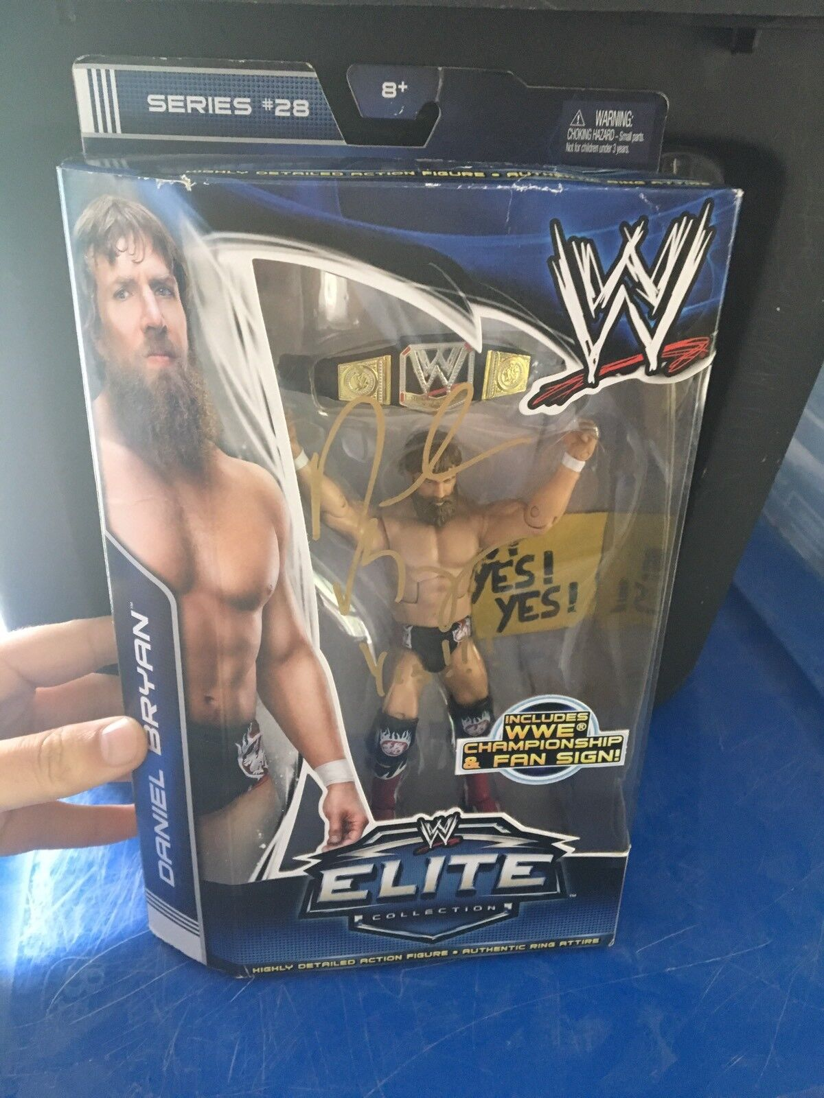 DANIEL BRYAN WWE Elite Signed Auto Wrestling toy action figure W/Proof