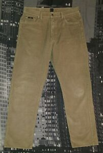 HUGO-BOSS-Herren-Samt-Hose-W38-L34-Modell-ARKANSAS-Authentisch