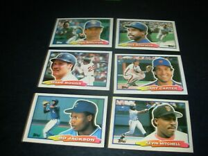 "1988 Topps Bigs baseball Hall of Famers and Stars ""You Pick 2"" $1.00"