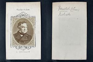 Figaro-Album, Louis Veuillot, journaliste Vintage cdv albumen print.Louis Veui