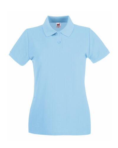 xs s m l xl xxl Womens Fruit Of The Loom Lady-Fit Premium Polo ladies t-shirt
