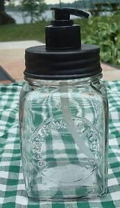 New-Unique-Primitive-Replica-Rustic-DAZEY-Butter-Churn-Jar-Soap-Lotion-Dispenser