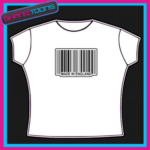 MADE IN ENGLAND BARCODE FUNNY SLOGAN TSHIRT GREAT GIFT