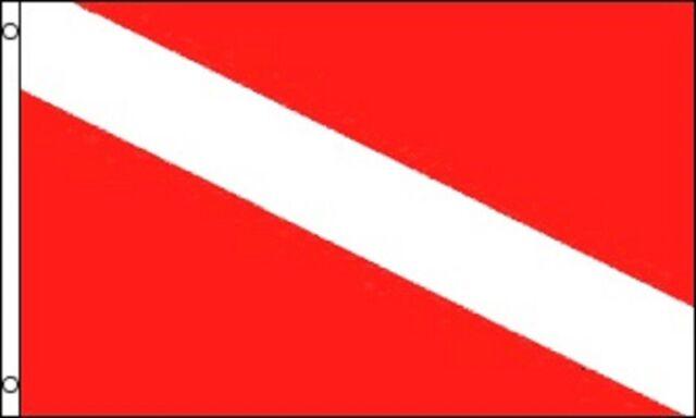Diver Down Flag Scuba Diving Banner Dive Marker Boat Pennant New 3x5