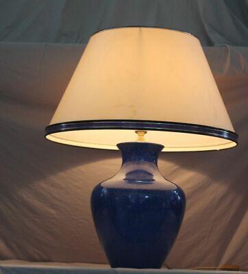 Paolo Marioini Tischlampe - Design Keramik Lampe Mit Orig. Schirm - Ca. 74 Cm /h