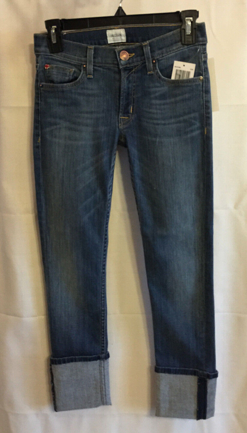 HUDSON WC421DMS ROAM  Jeans 'Muse' Cuff Crop Jeans Med Wash Skinny 24  189