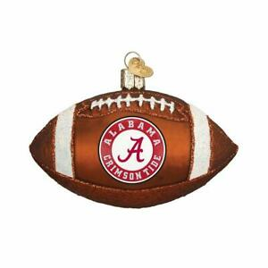 Old World Christmas University of Alabama Crimson Tide Football Glass Ornament