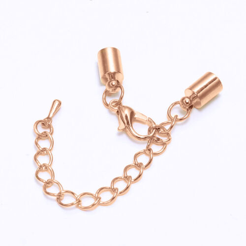 5MM HOLE 1x JEWELLERY CORD LEATHER END CAP FASTENER CLASP FINDING SETTING CHAIN
