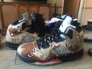 size 40 319f1 d43d9 Details about Air Jordan Retro 5 X Supreme Desert Camo Size 10.5