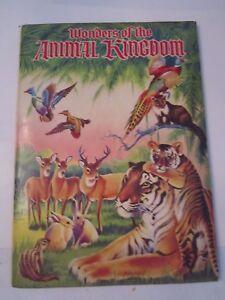 1959-WONDERS-OF-THE-ANIMAL-KINGDOM-ALBUM-STICKERS-amp-DRAWINGS-TUB-R5